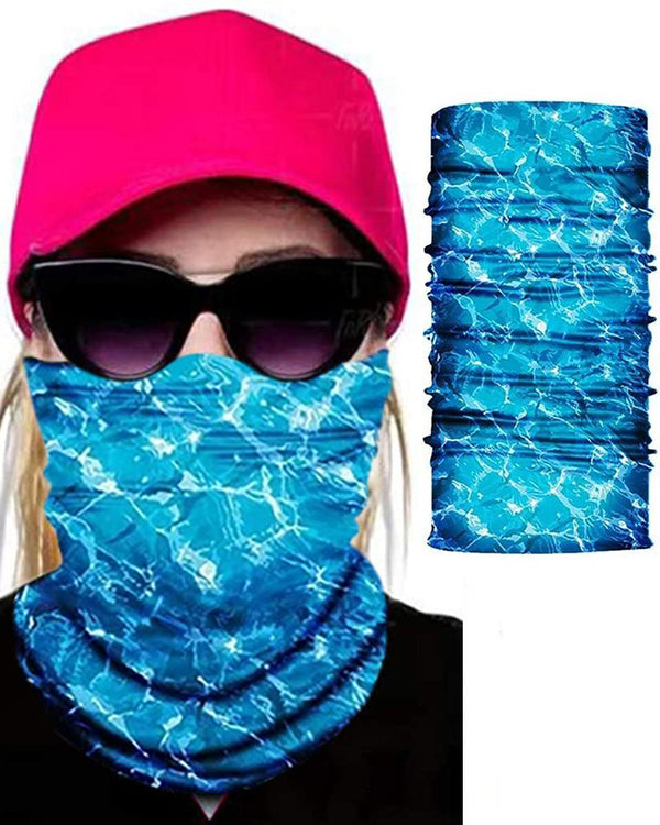 Watercolor Print Face Bandana Magic Scarf Headwrap Balaclava