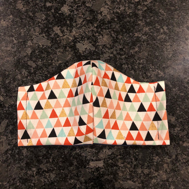 Triangle Print Mask