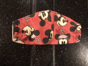 Minnie & Mickey Face Mask