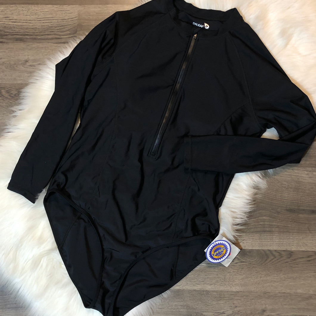 NWT Black Long Sleeve Swim