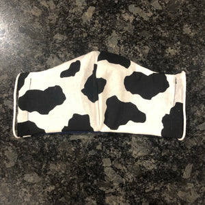 Cow Print Mask