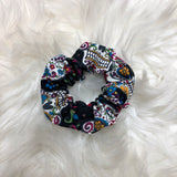 Sugar skull scrunchie