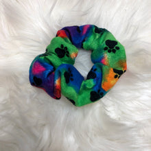 Load image into Gallery viewer, Paw print scrunchie
