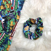 Load image into Gallery viewer, Ninja turtle scrunchie