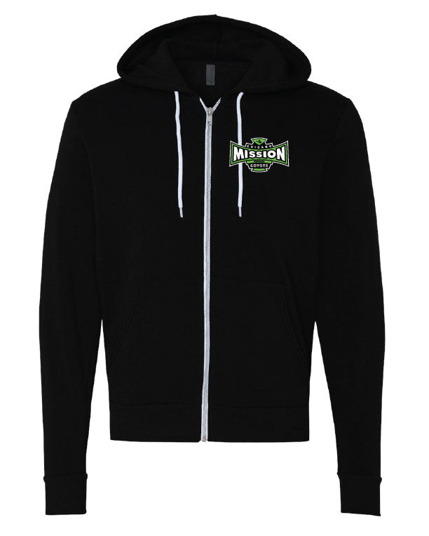 Mission Black Full Zip Hoodie