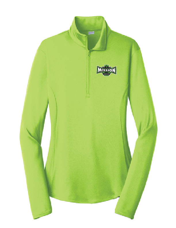Ladies Lime 1/4 Zip