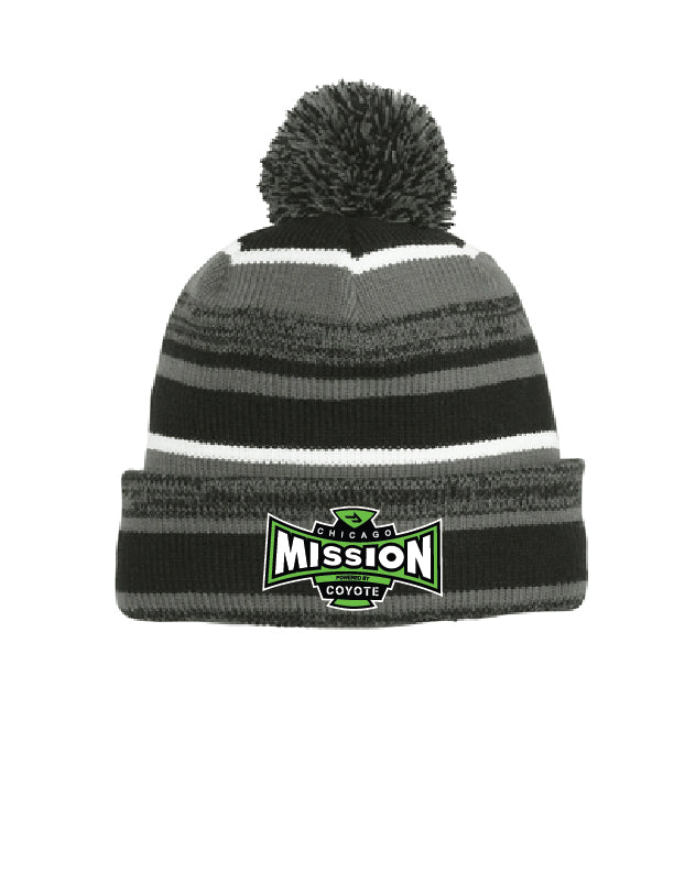 Mission New Era Sideline Pom Beanie