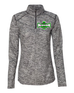 Ladies 1/4 Zip Performance Poly Pullover