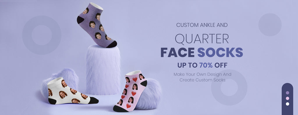Ankle And Quarter Face Socks
