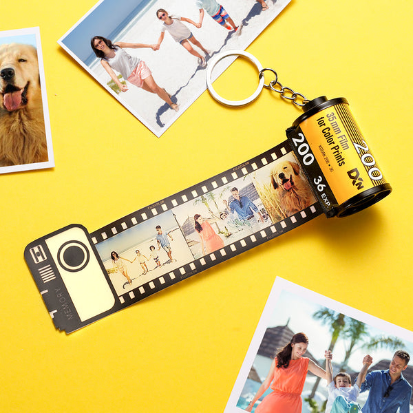 Custom Photo Film Roll Keychain Romantic Customized Gifts