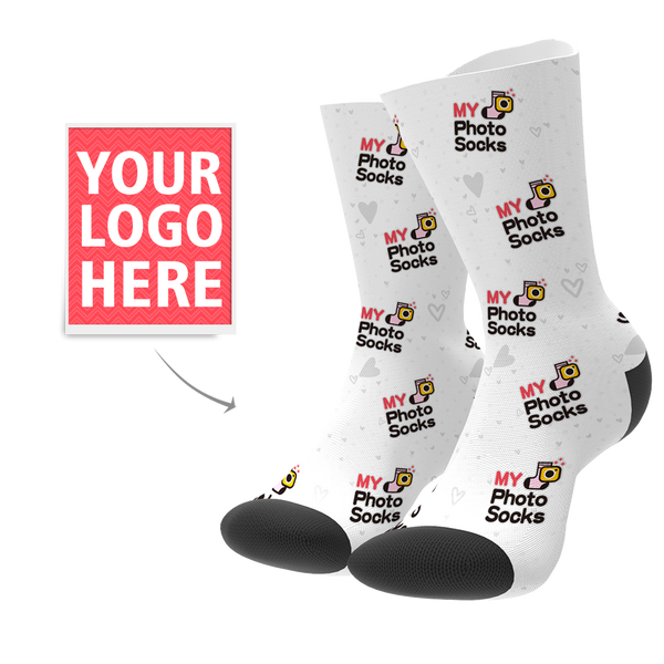 Custom Your Logo Socks - MyPhotoSocksAU