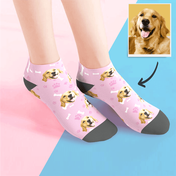 Custom Low cut Ankle Socks Dog - MyPhotoSocksAU