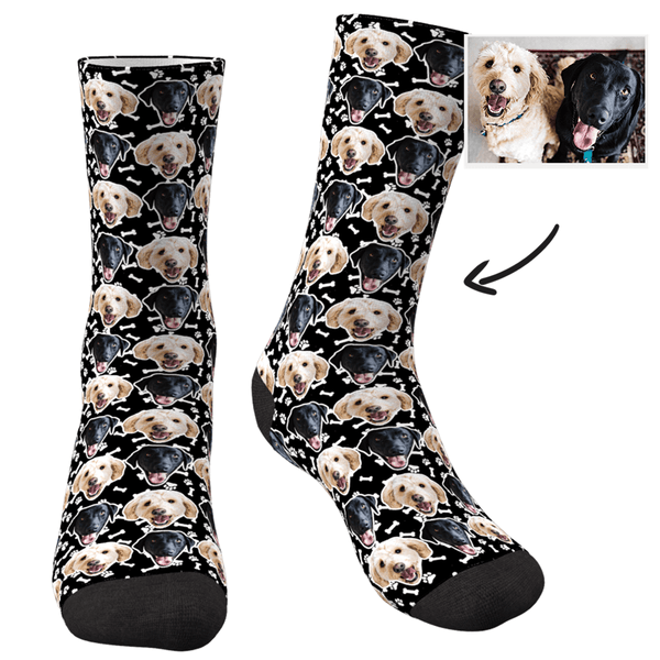 Custom Photo Dog Socks Corlorful - MyPhotoSocksAU