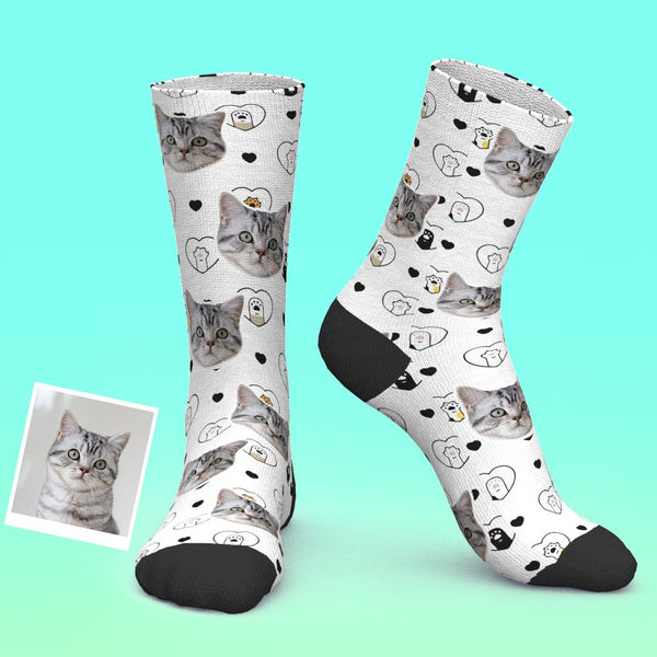 Custom Photo Socks Personalized Pet Socks Cat Lovers And Cat Owner Gift