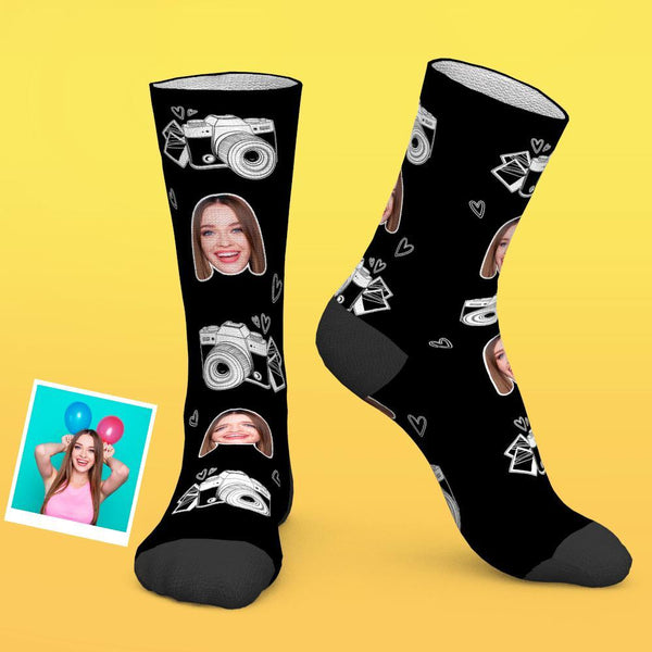 Custom Photo Socks Camera Photo Lover Photographer Funny Socks