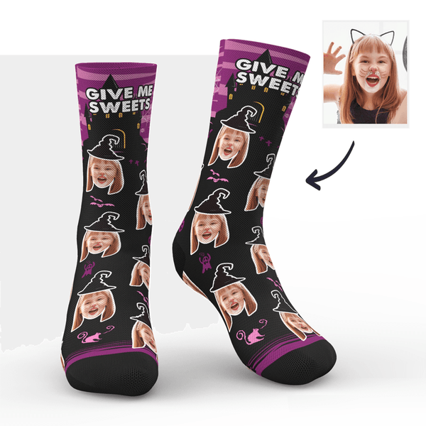 Custom Halloween Ghost Face Socks With Your Name
