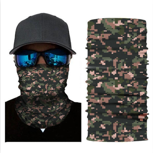 Bandanas Seamless Neck Gaiter Scarf Headwear For Outdoors Sports
