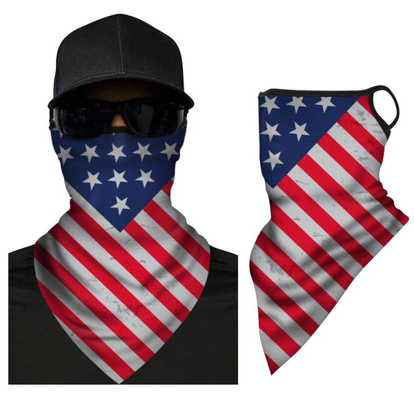 American Flag Triangle Bandana Face Covering Neck Warmer - MyPhotoSocksAU