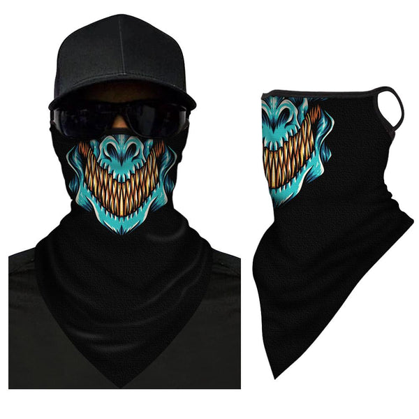 Face Covering Neck Gaiter Simple Black Triangle Bandana - MyPhotoSocksAU