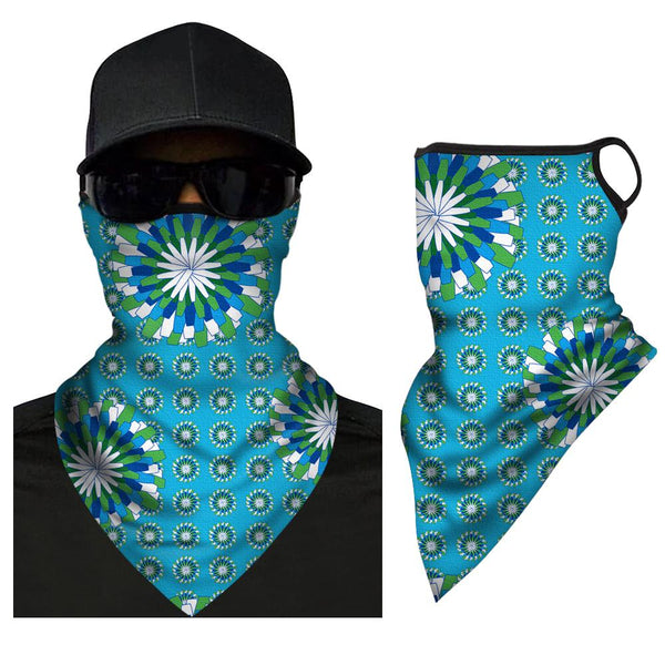 Face Cover Neck Protection Full Covering Triangle Bandana Breathable - MyPhotoSocksAU