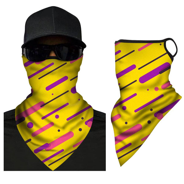Multifunction Neck Gaiter Unisex Adult Face Triangle Bandana - MyPhotoSocksAU