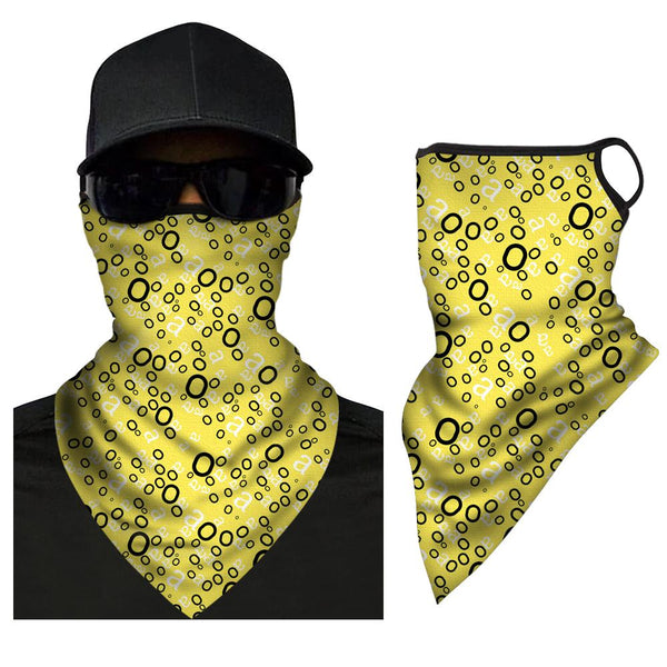 Neck Gaiter Face Covering Premium Neck Face Covering Multi-functional Breathable Triangle Bandana - MyPhotoSocksAU