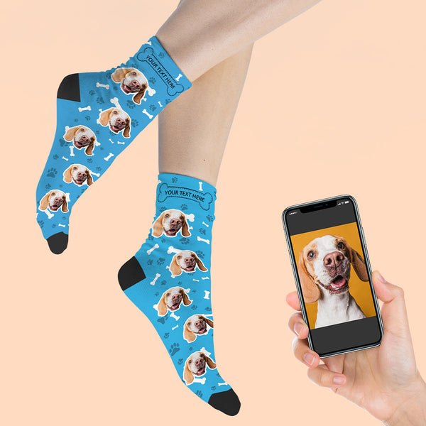 Custom Photo Socks Dog Face Socks