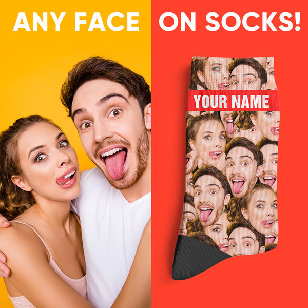 Custom Photo Socks Mash Face Socks
