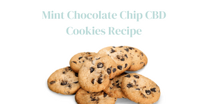 Maddyn Chocolate Chip CBD Cookies Recipe Title with Image of Cookies