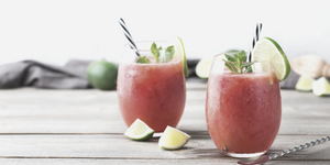 Summer watermelon cooler drink with mint