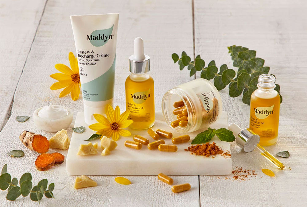 Maddyn's hemp-derived CBD oil products