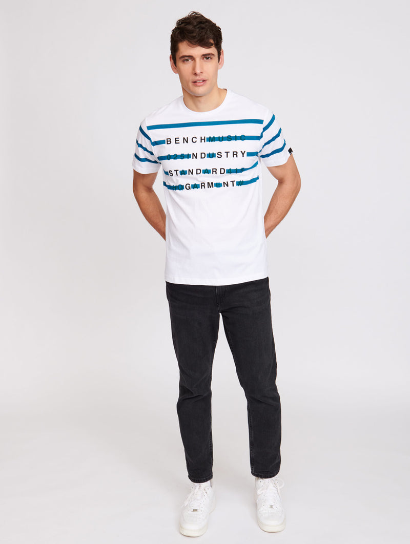 STRIPED INDSTRY TEE