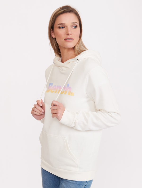 Hoodie Sweatshirt With Iridescent Logo