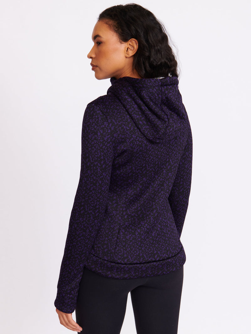 Bonded Sherpa Lined Velvet Sweater - Bench Canada