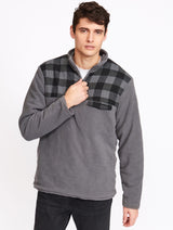 Men's 1/4 Zip Lined Polar Fleece