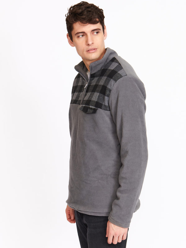 MENS 1/4 ZIP LINED POLAR FLEEC