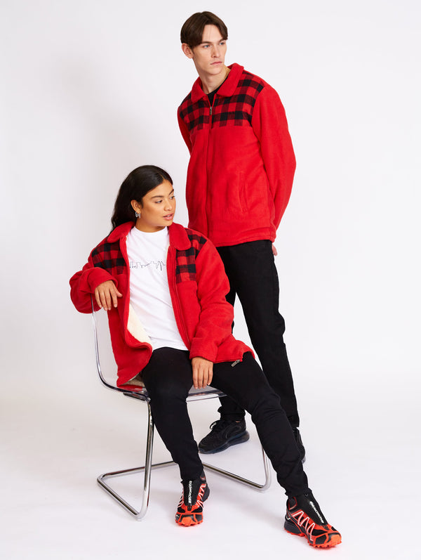 Zip Thru Lined Polar Fleece