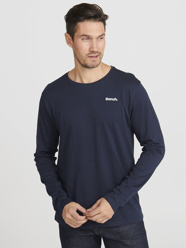 Men's MENS CREW NECK L/S TEE W/ CHES - Bench