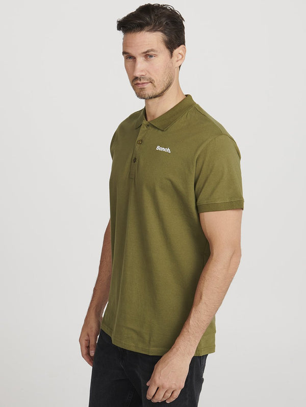 Men's MENS S/S POLO W/ RIB CUFF AND - Bench