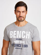 Men's Crewneck S/S Tee W Distressed Chest Print - Bench Canada