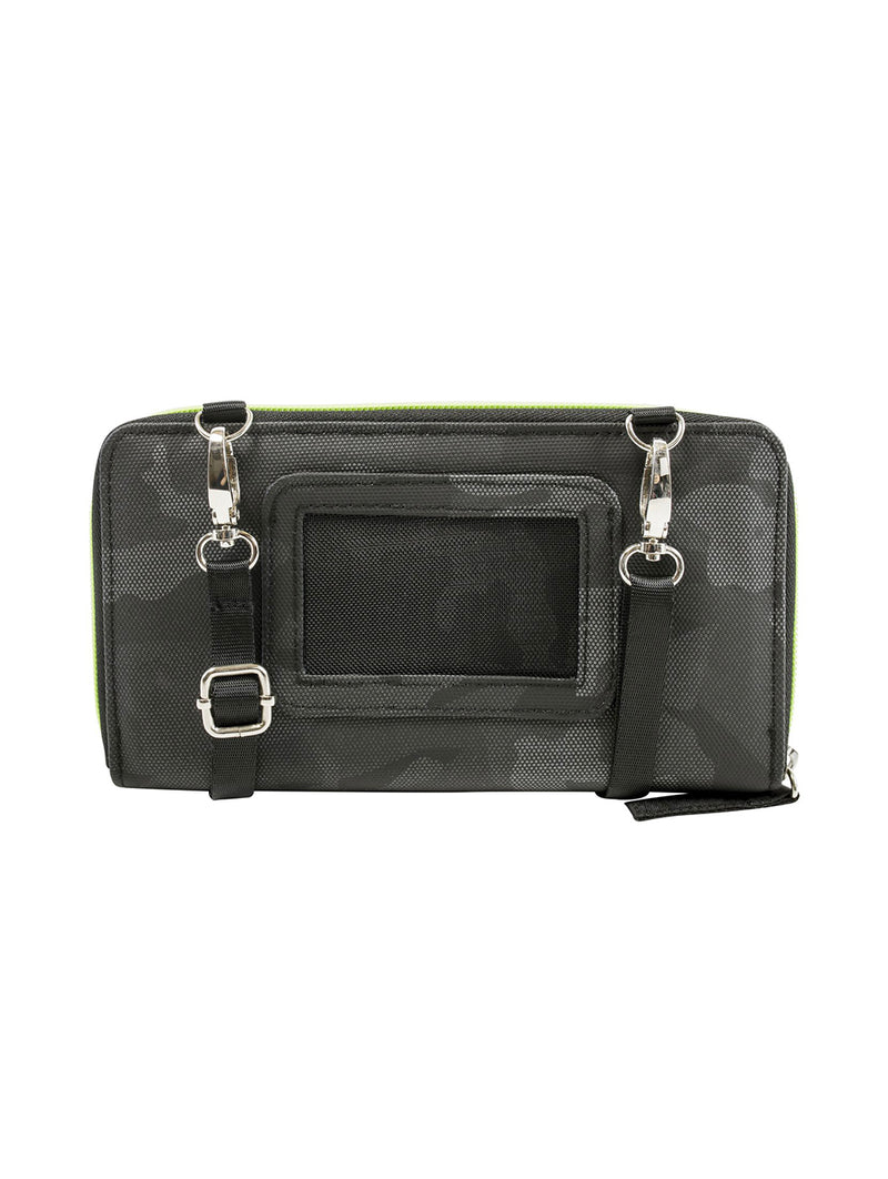 CAMO ZIP AROUND WALLET W STRAP