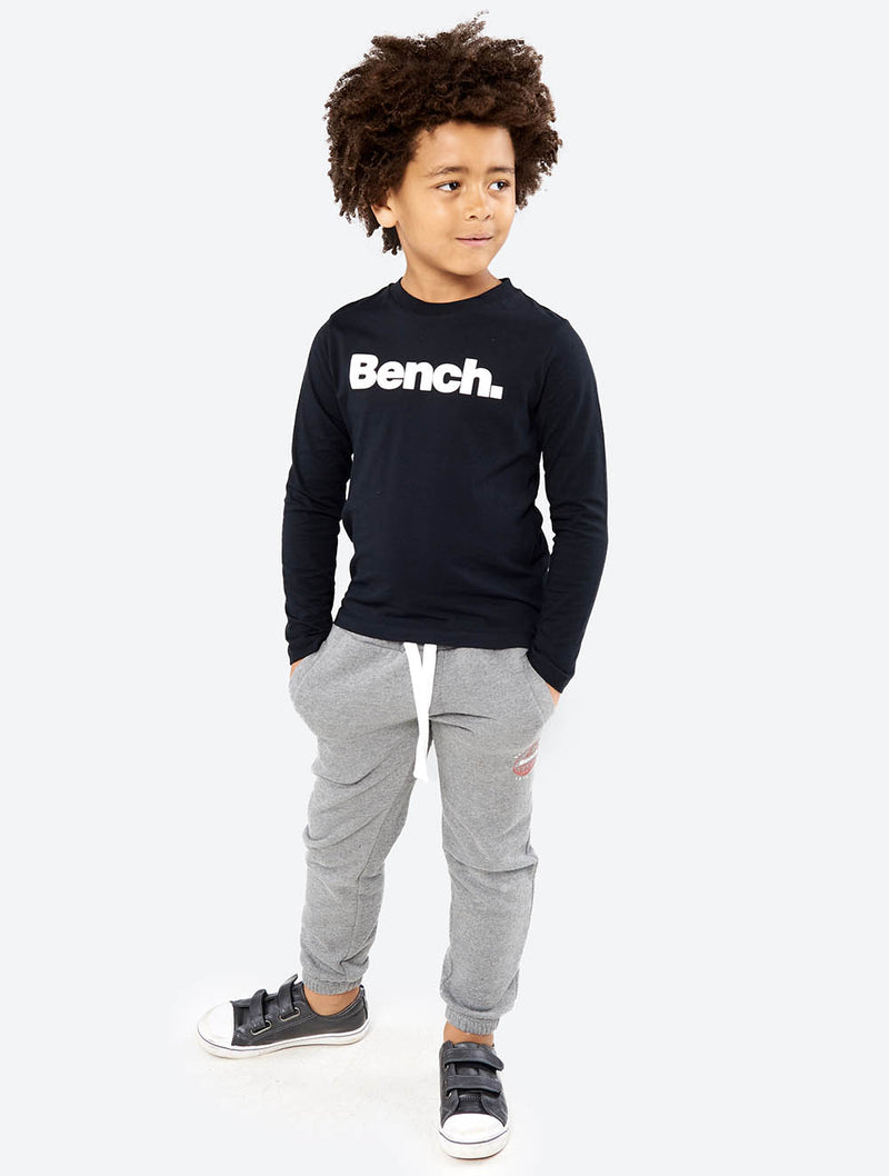 Boys's Corp Long Sleeve Tee with Logo - Bench