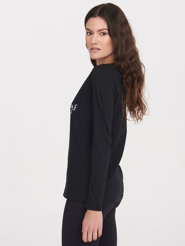 Women's L/S LONG NIGHTS TEE - Bench