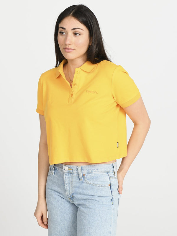 Women's GROOVE CROPPED POLO - Bench