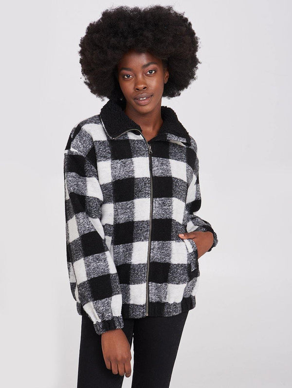 BOULDER  PLAID JKT
