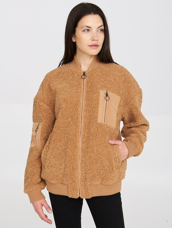 Women's MONICA SHERPA BOMBER - Bench