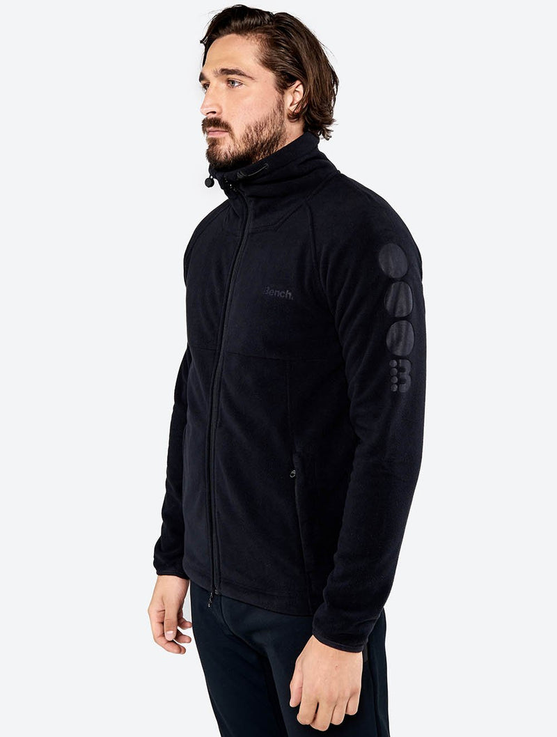 Men's Funnel Neck Zip-Up Sweater - Bench