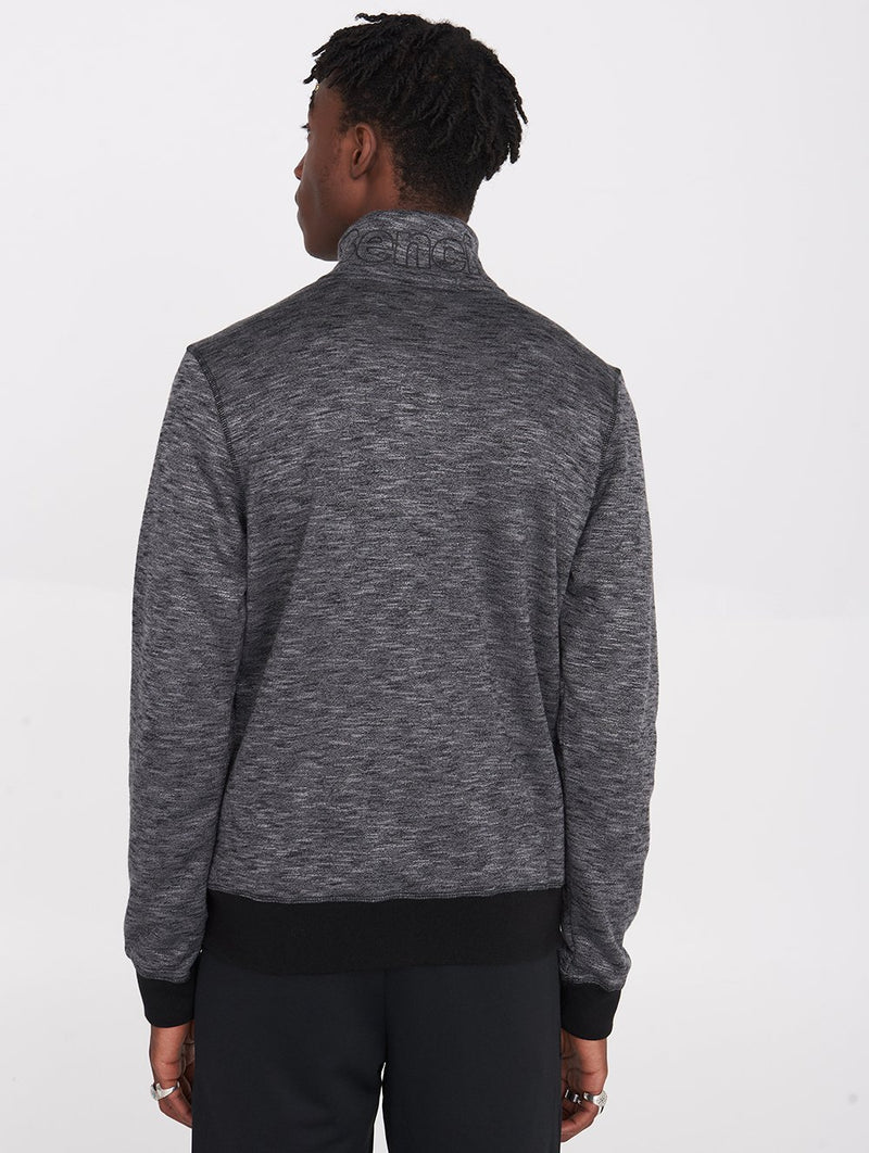Funnel Neck Zip-Up Bonded Sweater - Bench Canada