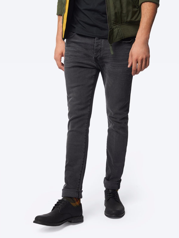 Five-Pocket Jeans with Permanent Wear Creases