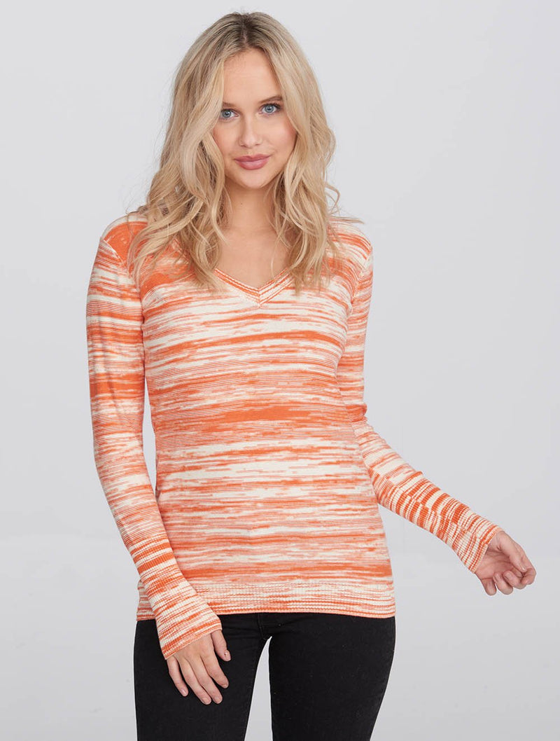 Women's Knitted V-Neck Top - Bench